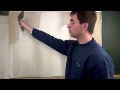 Comment enduire pour obtenir des murs parfaitement lisses - YouTube