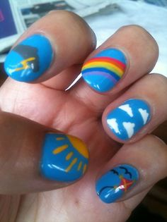 Even though its raining outside..sunshine on your nails!