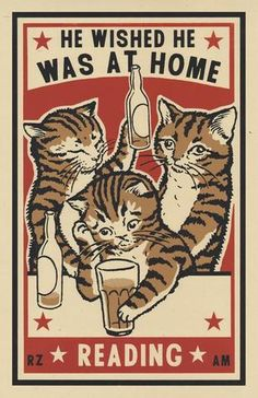 Drunk Cats By Arna Miller In My Art Drunk Cat Cat - Artists Arna Miller And Ravi Zupa Created A Series Of Tiny Block Prints On Matchboxes Depicting Cats Acting Out Common Behaviors Seen In Bars Late In Amusing Matchboxes Show Drunk Cats In Qu Drunk Cat, Arte Punk, Matchbox Art, Cat Posters, Crazy Cats, Vintage Art, Screen Printing, Art Drawings, Poster Prints
