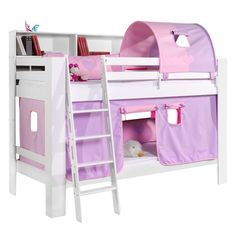 Etagenbett Jan - Buche massiv / Baumwolle - Weiß / Lila / Rosa, Relita Jetzt bestellen unter: https://moebel.ladendirekt.de/kinderzimmer/betten/etagenbetten/?uid=a9557c3e-de36-5cea-90cf-8d4f8461ce54&utm_source=pinterest&utm_medium=pin&utm_campaign=boards #möbel #etagenbetten #kinderzimmer #relita #teens #betten #kids