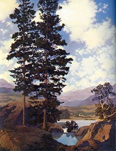 Maxfield Parrish - Thy Templed Hills