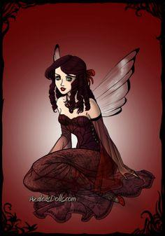 Birthstone Fairies -- Ruby (July)