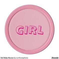 Girl Baby Shower Set Of Poker Chips