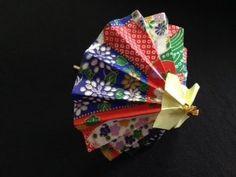 おりがみ  和傘    origami   washi Japanese umbrella *******