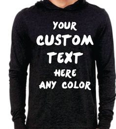 Custom  Unisex Jersey Long-Sleeve Hoodie Personalized in any Texts-Colors  Super Comfy Soft Perfect For any Occasions , Groups, School