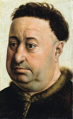Кампен, Робер (ок1375-1444) - Портрет толстого мужчины. Часть 3