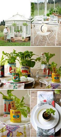 love the garden theme