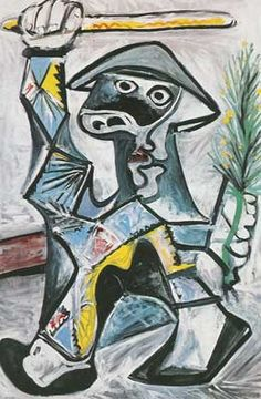 """Pablo Picasso, """"Harlequin with baton"""", 1969 Modern Art, Picasso Art, Art Painting, Cubist, Art Reproductions, Painting, Henri Matisse, Find Art, Art"""