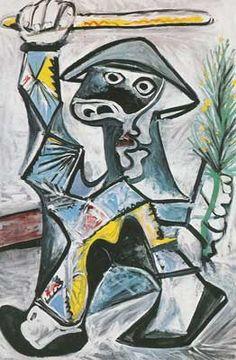 """Pablo Picasso, """"Harlequin with baton"""", 1969 Pablo Picasso, Picasso Drawing, Picasso Art, Picasso Paintings, Painting & Drawing, Painting Lessons, Georges Braque, Henri Matisse, Paul Gauguin"""