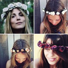 Celebs like Pixie Lott and Vanessa Hudgens have been rocking the floral hair crown trend at all the hottest festivals this summer. The ultimate boho chic accessory!