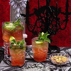 It's only a little blood! Get the recipe for Bloody Moscow Mules and lots more Halloween cocktail ideas.