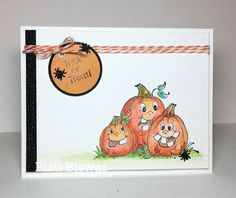 Giant Jack-O-Lanterns (Sku#I1267)  from Art Impressions.  Adorable Halloween card.