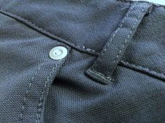Slim Dungarees exterior fabric close up