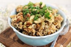 Save yourself some cooking time this Thanksgiving by making your crock-pot stuffing in a slow cooker.