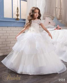Original PENTELEI Flower girl dress - style1535 at: www.myweddingown.com