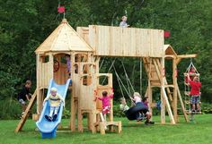 wood swing set...we are putting an addition on the play house in the back yard, looking at similar styles
