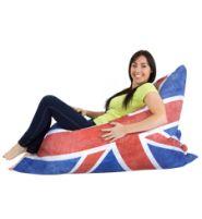 The boys' bedroom - Seating : Bean Bag Bazaar Union Jack bean bag Huge Bean Bag, Giant Bean Bags, Cool Bean Bags, Large Bean Bags, Bean Bag Bazaar, Bedroom Seating, Union Jack, Bean Bag Chair, Beach Mat