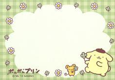 Kawaii memo paper Pompompurin - Sanrio