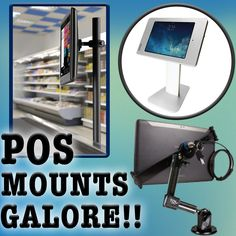 Choose from a wide selection (many makes and models) of POS Mounts and touch screen mounts for your monitor or tablet. Perfect for any point of sale system.
