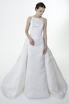 Agnes wedding dress from Peter Langner Bridal Collection 2017 - Sculptured full skirt wedding dress - see the rest of the collection on www.onefabday.com
