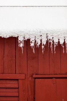 karabrodgesell:    Barn icicles  © Kara Brodgesell