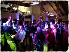 Dance lighting and room-uplighting for a wedding reception at Copper Station. Copper Mountain, CO.