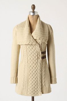 Anthropologie Blanched & Buckled Cardigan. Ba-nanas.
