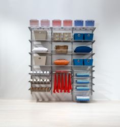 The ultimate solution; elfa® is versatile, hardwearing, easy to install and utterly trustworthy. Available from Howards Storage World. Elfa Shelving, Howard Storage, Shelving Solutions, Linen Cupboard, Wardrobe Closet, Ocd, Wardrobes, Closets, Shoe Rack