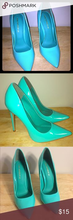 Brand New Turquoise Pumps Never worn Turquoise heels lolashoetique Shoes Heels