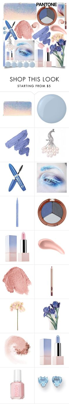 """""""Pantone Beauty:Rose Quartz and Serenity"""" by grozdana-v ❤ liked on Polyvore featuring beauty, Dune, Deborah Lippmann, Bling Jewelry, Rimmel, Medusa's Makeup, Stila, Mineral Fusion, Sephora Collection and CARGO"""