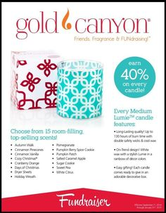 Gold Canyon puts the FUN in Fundraising!! and you earn 40% WOW https://ederose.mygc.com for more info