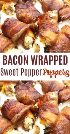 Wrap Recipes, Bacon Recipes, Cooking Recipes, Healthy Recipes, Game Recipes, Healthy Food, Yummy Recipes, Pepper Recipes, Party Recipes