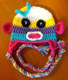 Sock Monkey Beanie by MissSaraCreate on Etsy, $20.00