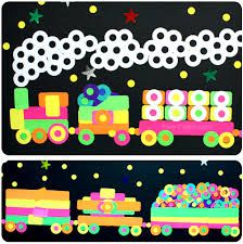 Neon trains - theme: unusual colours and transport.
