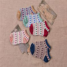 cute pattern design women cotton boat sock
