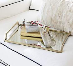 Lynn Brass & Mirror Tray #potterybarn 49