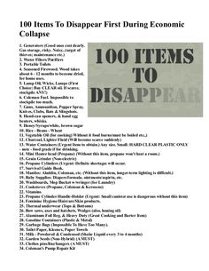 100 Items To Disappear First During Economic Collapse INFOWARS.COM BECAUSE THERE'S A WAR ON FOR YOUR MIND