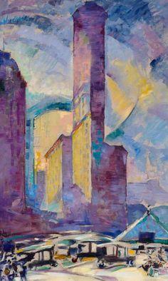Alfred Aaron Wolmark, The Flatiron Building, New York, 1919 - Jerwood Gallery