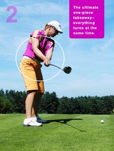 Unlike most swings on the PGA Tour, Annika rotates everything (arms, hips, shoulders, chest, club) away from the ball at the same time. This is the simplest way to keep your club on plane at the start.