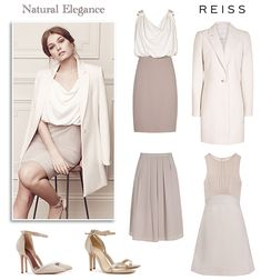 Reiss Mother of the Bride dress and coat modern wedding guest dresses in neutral colours champagne cream ivory taupe rose pink and beige