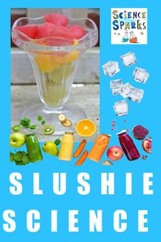 Homemade slushy drinks made with ice and salt. #kitchenscience #slushydrinks #scienceforkids #ediblescience