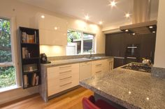 Contemporary kitchen with large island bench. www.thekitchendesigncentre.com.au