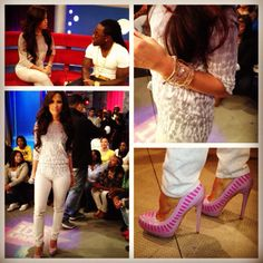 Rocsi's Runway look for 4.13.12 styled by @stylecarmen; Thakoon Addition sweater @JBrandJeans @fastermarkfast #ALDORiseCollection shoes