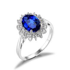 Weatherlight Sapphire - 3.2 ct Diana Gemstone Ring