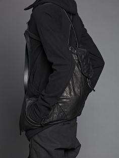 Boris Bidjan Saberi cow leather backpack with pockets //