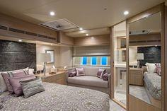 Master bedroom cabin in amethyst © Hill House Interiors