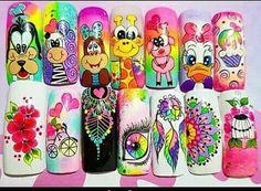 Nail Art Designs Videos, Nail Designs, Nail Manicure, Pedicure, Kawaii Nail Art, Rock Painting Designs, Silver Nails, Painted Rocks, Pink