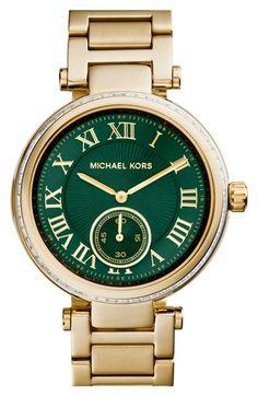 MICHAEL Michael Kors Michael Kors 'Skylar' Crystal Bezel Bracelet Watch, 42mm available at #Nordstrom