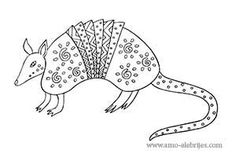 dibujos para dibujar armadillo Armadillo, Mexican Folk Art, Step By Step Drawing, Adult Coloring Pages, Cross Stitch Embroidery, Paper Dolls, Art Projects, Hispanic Heritage Month, Jan Brett