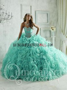 New turquoise quinceanera dresses ball gown 2016 crystal sweep beaded on organza ruffles puffy sweet 15 dresses 26801_Quinceanera Dresses 2016_Quinceanera Dresses 2016,sweet 15 dresses 2016,Dama Dresses 2016,Little Girl Pageant Dresses 2016,Tutu dress 2016,New Style Quinceanera Dresses 2016 on Quinceaneradressmall.com